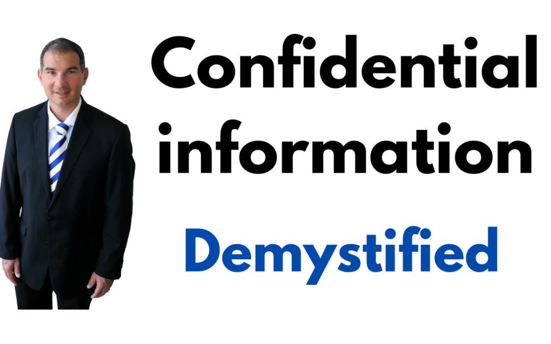 Can that really be 'confidential information'? Yep.