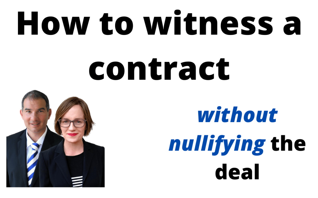 4 contract witnessing requirements